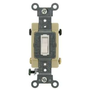 Framed 4 Way AC Quiet Switch, Commercial Grade, Grounding, White