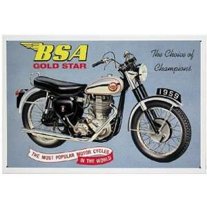 BSA Gold Star Motorcycle Metal Sign