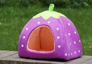 Strawbelly PLUSH PET Dog Cat Puppy TENT HOUSE Bed 5 color S/M/L