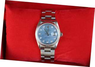 ROLEX DATEJUST MENS STAINLESS STEEL WATCH DIAMOND DIAL