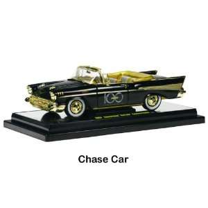 1957 Chevy Bel Air Convertible 1/24 Black **Chase Car** Toys & Games