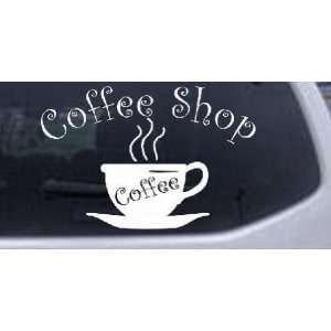 4in    Coffee Shop Cup Business Car Window Wall Laptop Decal Sticker