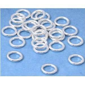 25 Sterling Silver Jump Rings Closed Jewelry 20 Gauge 5mm
