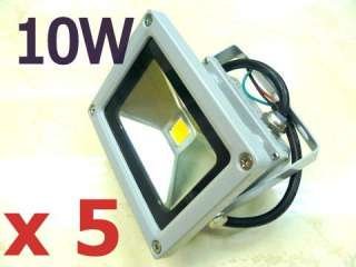 BULK 5 x 10W LED SPOTLIGHT Flood Light Garden Outdoor Warm White