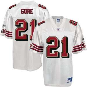 Reebok NFL Equipment San Francisco 49ers #21 Frank Gore Youth White