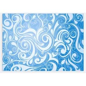 Tribal Pattern Blue & White Vinyl Decal Sheets 12x12 Stickers x3
