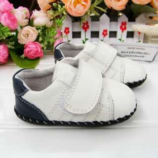 White Toddler Baby Boy Girl shoes soft soled(C57)size 2 3 4