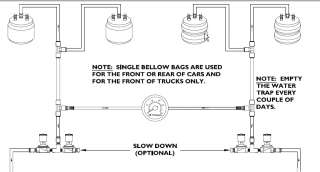 SMC 3/8 NICKEL PLATED VALVES AIR RIDE SUSPENSION BAG