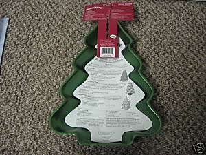WILTON HOLIDAY CHRISTMAS TREE ALUMINUM CAKE PAN NEW
