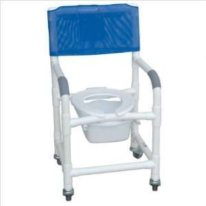 Bundle 61 Standard Deluxe Shower Chair with Slide Out Commode Pail