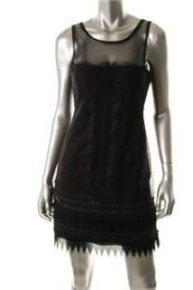 BCBG Maxazria NEW Black Cocktail Dress Lace Sale 8