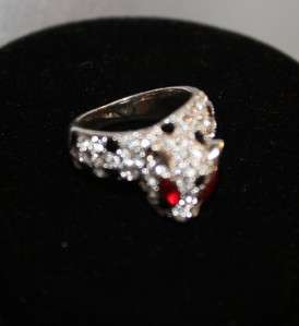 Kenneth Jay Lane KJL Panther Crystal & Rhinestone Ring Sz 6.5