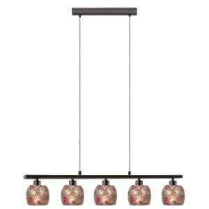 Sabana Collection 5 Light 23 Antique Brown Trestle Hanging Light