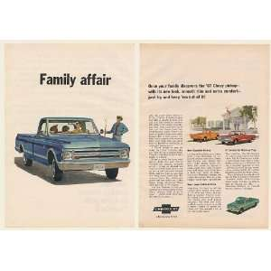 1967 Chevy Fleetside Pickup Truck Family Affair 2 Page Print Ad (50036