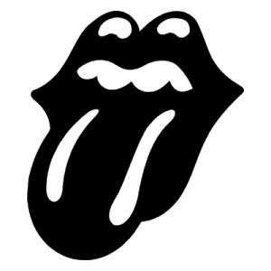 ROLLING STONES BAND WHITE LOGO VINYL DECAL STICKER