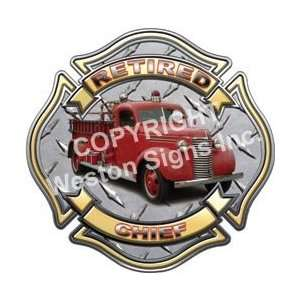 Retired Fire Chief Firefighter Decal   16 h   RELFECTIVE Everything