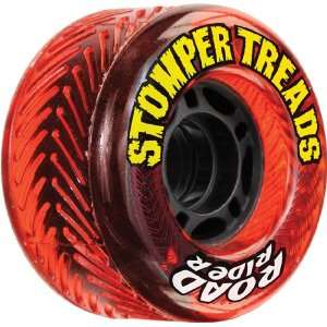 Road Rider Stomper Treads 70mm 78a Red Skateboard Wheels