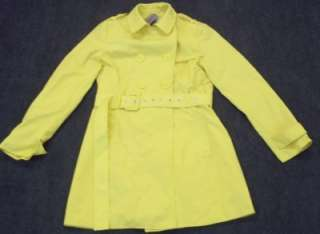 KENNETH COLE REACTION YELLOW TRENCH COAT SIZE 2XL