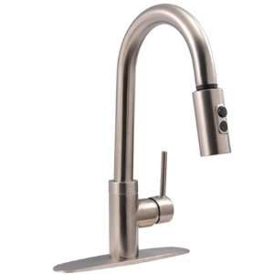 Kb Single Handle Faucet W/ Pull Down Spout, , Satin Nickel