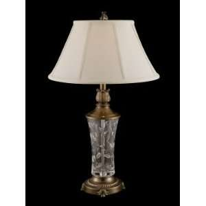 Dale Tiffany Crystal I Table Lamp in Antique Gold Finish