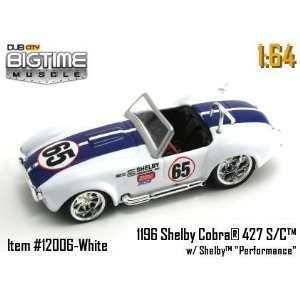Jada Dub City Big Time Muscle White Racing 65 Shelby Cobra