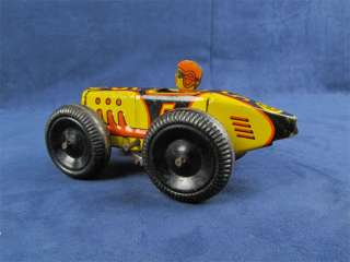 Vintage 1930s Marx Tin Wind Up Toy Racer Race Car #5