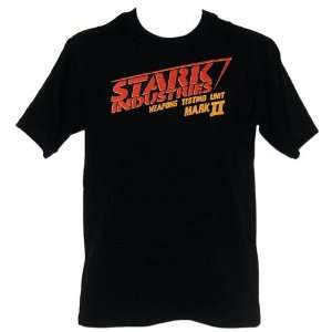 Iron Man Stark Industries PX Black T Shirt Large Toys & Games