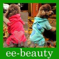 Blue Red Long Ear Rabbit Fleece Warm Coat Thick Dog Pet Clothes