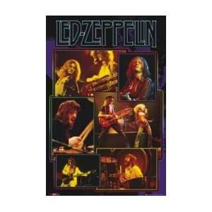 LED ZEPPELIN Live Collage Music Poster