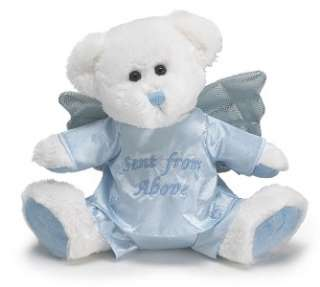 Plush Blue Jordan Angel Bear Baby Boy Stuffed Animal