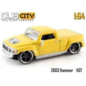 Dub City Kustoms Yellow Hummer H3T 164 Scale Die Cast Truck Toys