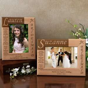 Junior Bridesmaid Poem Wooden Picture Frame