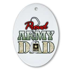 Ornament (Oval) Proud Army Dad