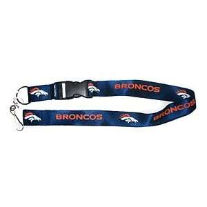 Denver Broncos Breakaway Lanyard with Key Ring   Navy