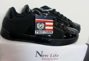 NEW Phat Farm Mens Black Sneakers Size 9.5 & 10