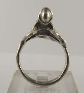Unique Sterling Silver Dancing Lady Free Form Ring