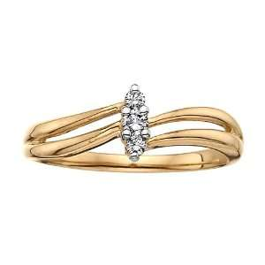 10kt Yellow Gold Diamond Ring Jewelry