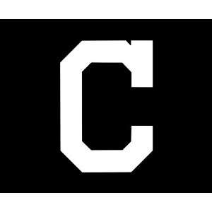 Cleveland Indians LARGE 10 WHITE vinyl decal sticker