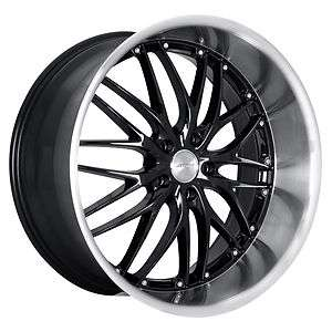 MRR GT1 Black Rims Wheels Ford Mustang Infiniti G35 Coupe Nissan 350Z