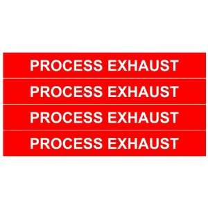 PROCESS EXHAUST Gas Pipe Tubing Labels 3/4 Height, 6