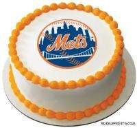 New York Mets Edible Image Icing Cake Topper