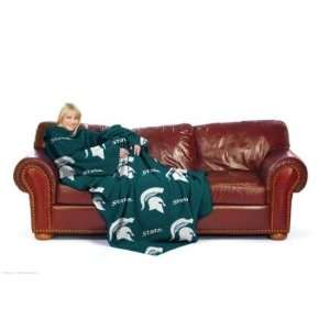 MICHIGAN STATE SPARTANS NCAA ADULT HUDDLER FLEECE THROW