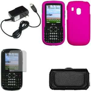 iFase Brand LG 500G Combo Rubber Hot Pink Protective Case