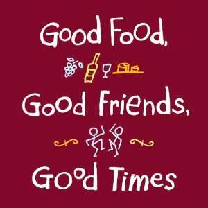 Attitude funny apron Good food good friends good times