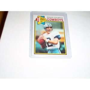 Roger Staubach Dallas Cowboys 1979 topps trading card #400