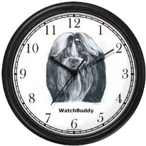 Shih Tzu Dog Wall Clock by WatchBuddy Timepieces (Hunter