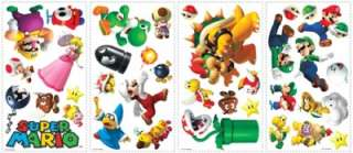 SUPER MARIO BROS. 35 Wall Decals NINTENDO Stickers Decor Bowser Luigi