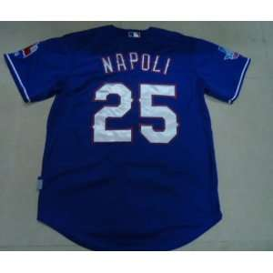 Rangers 25 Mike Napoli MLB Authentic Blue Jerseys
