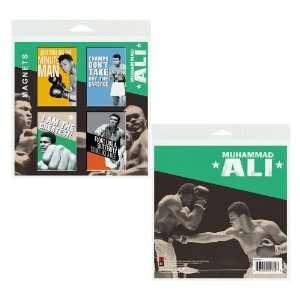 Muhammad Ali 2x3 Inch Button Fridge Magnets (Set of 4 Large Magnetic