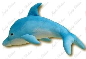 GIANT HUGE BIG 30 BLUE DOLPHIN STUFFED PLUSH ANIMAL